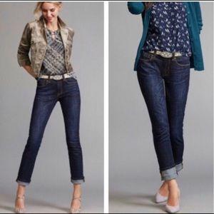 CABI Blue High Straight Denim Jeans
